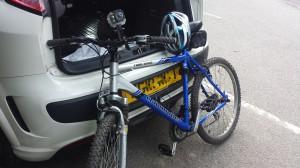 Bike and caar
