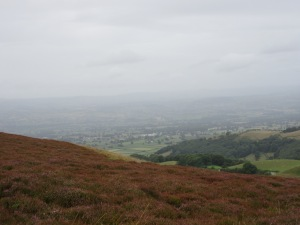 Cloudy view from Moel Famau