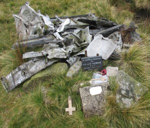 Sabre crash site Kinder Scout