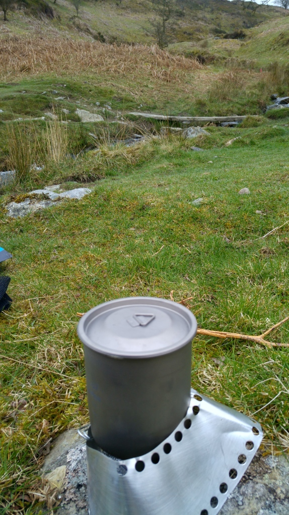 Alpkit mug on meths burner
