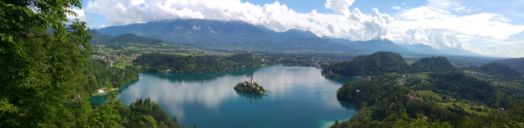 Views over lake Bled