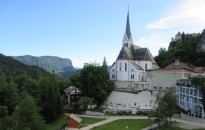 Balcony view hotel Jelovica Bled Slovenia