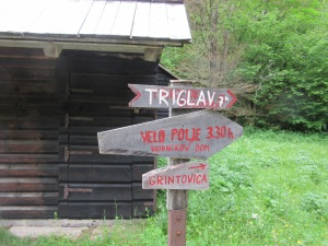 Sign to Triglav