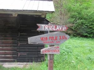 Sign to Triglav