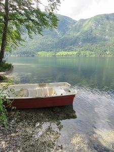 Boat on lake Bohinj Slovenia
