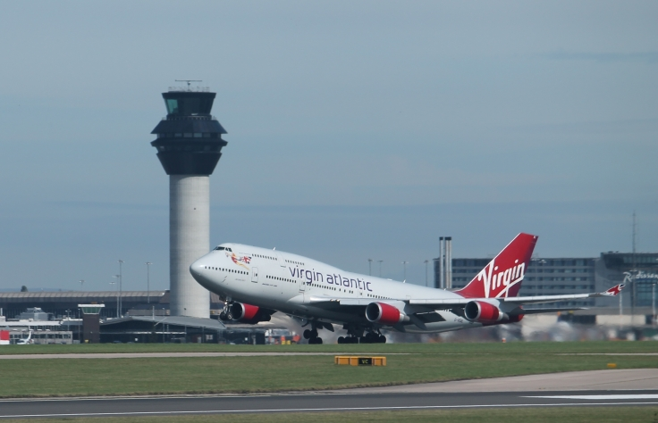 Virgin 747 take off