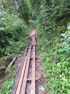 Footpath to Gorges du Fier,