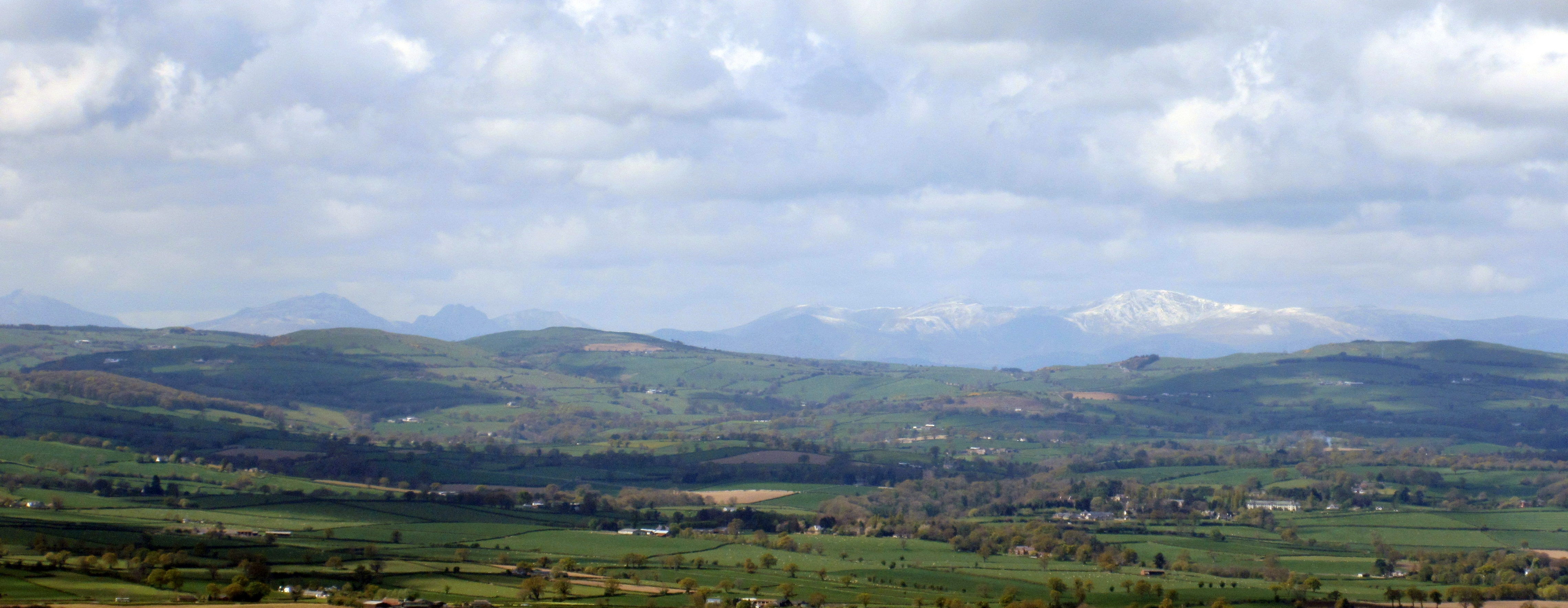 Views from Moel Famau to Snowdon