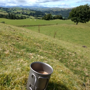At least a coffee with a view. North Wales
