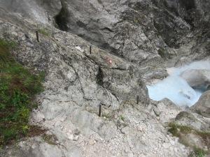 Metal Ladder in Rocks