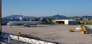 Salzburg airport terrace