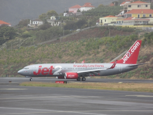 Jet2 737 800 Funchal airport