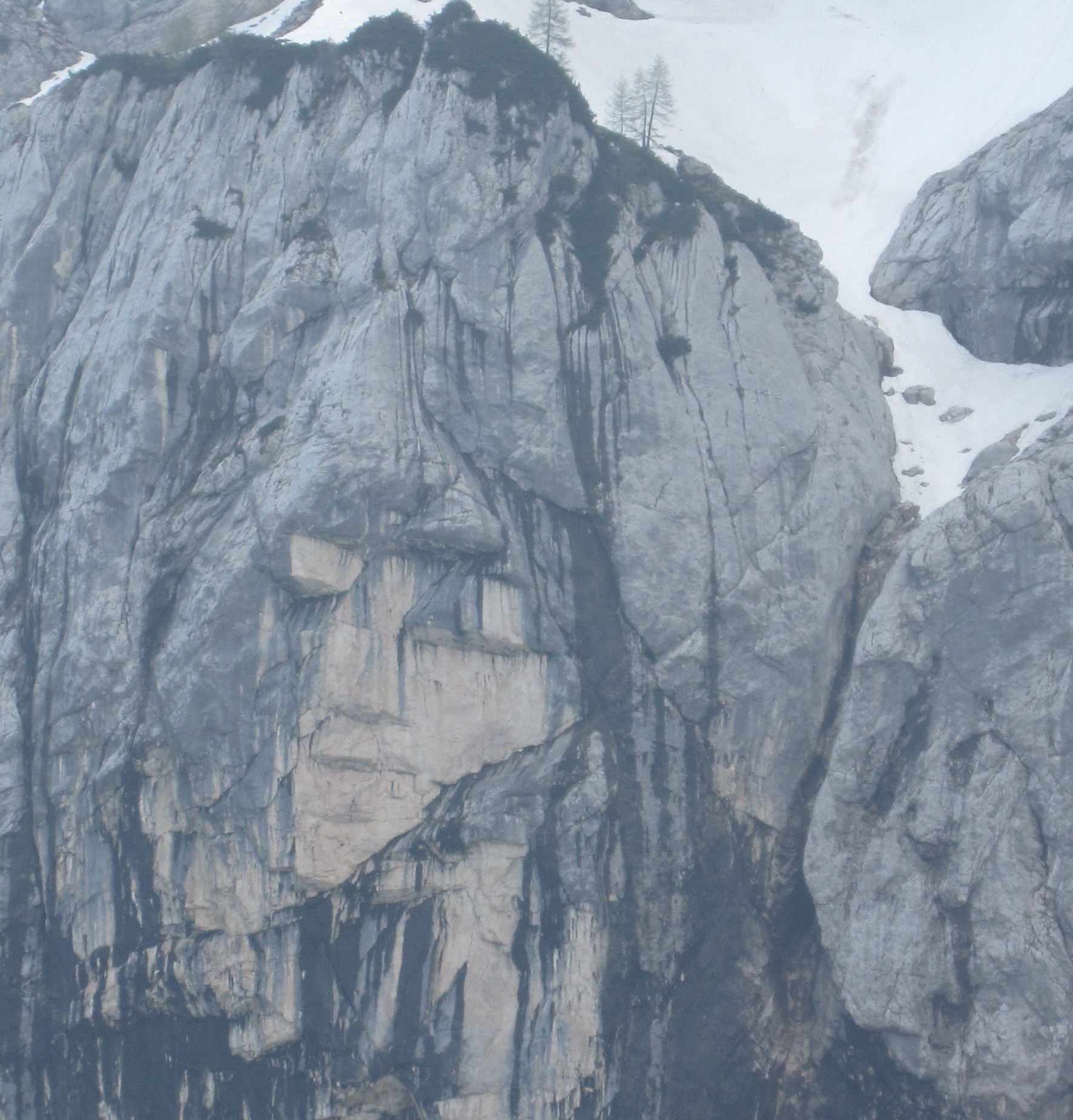 Vrisc pass, Slovenia. Face in rock