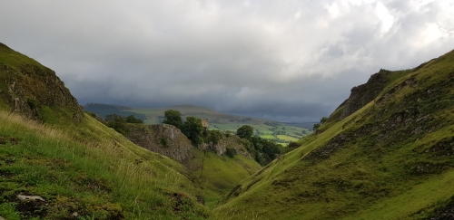 Views down valley Castleton Derbyshire