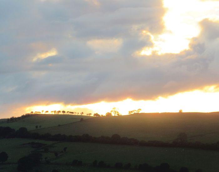 Bryneglwys Lantysilio mountain sunset