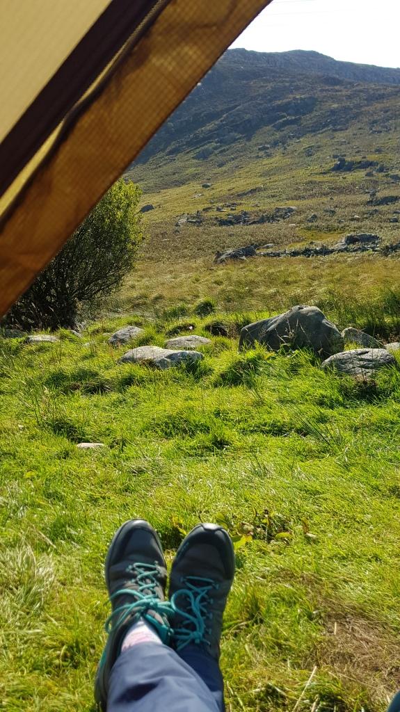 MSR Elixir tent pitched near Capel Curig, Snowdonia
