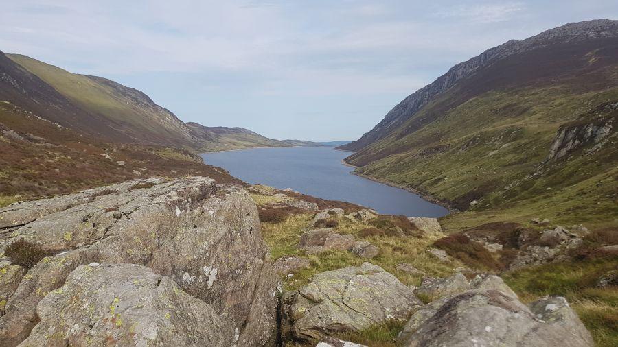 Llyn Cowlyd reservoir.