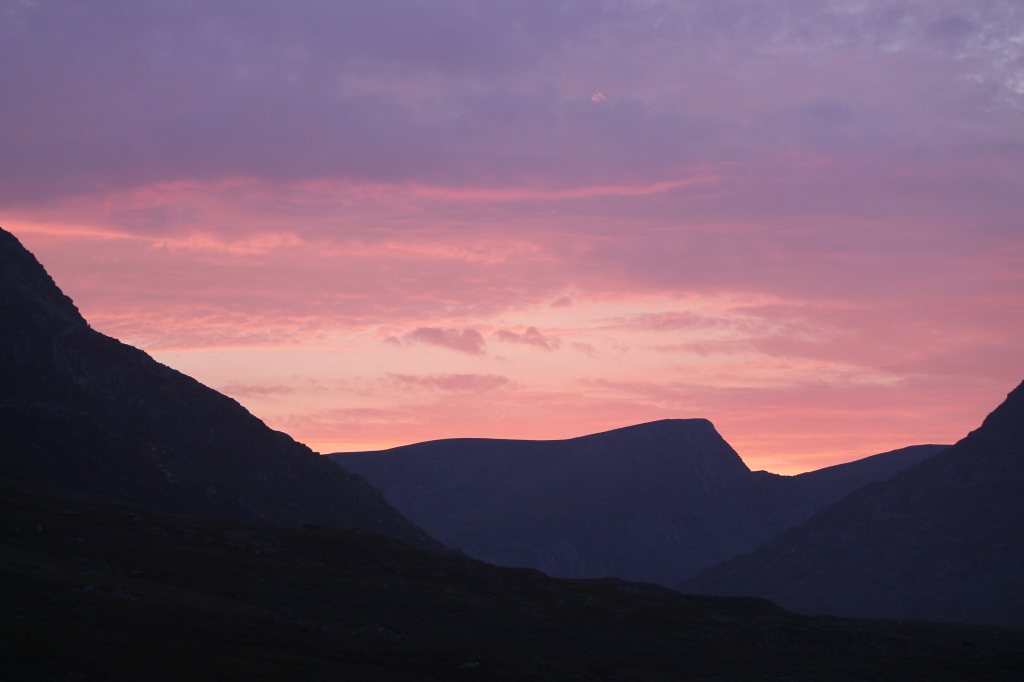 Sunset over Snowdonia