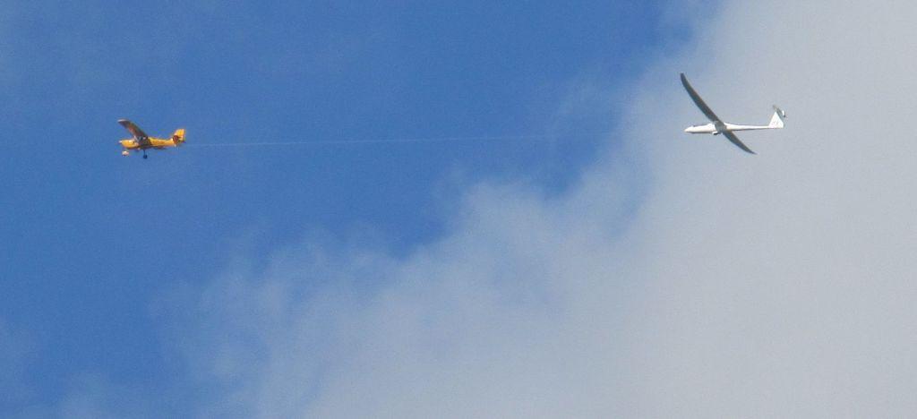 Glider over Debigh, North Wales