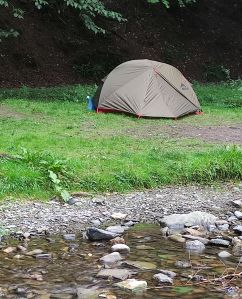 Tent in Cae Dai Wilderness adverntures